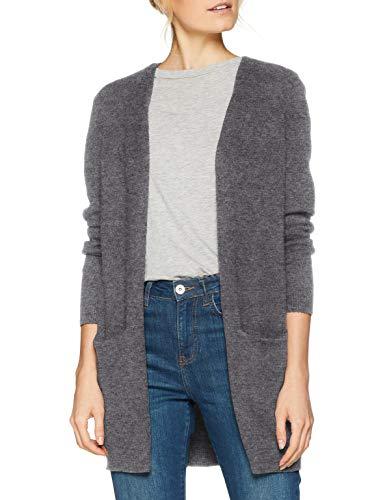 ONLY NOS Damen Onlqueen L/S Long Cardigan KNT Noos Strickjacke, Grau Medium Grey Melange, X-Large (Herstellergröße: XL)