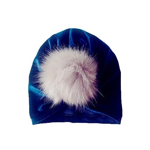 Cdrox Kinder Velvet Indian Hut-Baby-Mädchen Junge Haarknäuel Fotografie Cap Herbst-Winter-warme Mütze - Für Indian Hut Mädchen