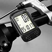 SOONGO Bike Computer Wireless Waterproof MPH&KM Cycle Speedometer Multifunctional Bicycle Accessoreis Large LCD Display Backlight