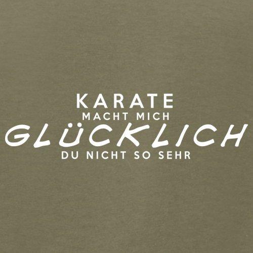 Karate macht mich glücklich - Herren T-Shirt - 13 Farben Khaki