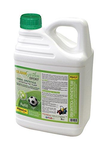 Chimiver Detergente concentrato sanificante per la pulizia di campi sportivi in erba sintetica CLEAN GARDEN SPORT CONCENTRATO 5L | Tanica da 5L.