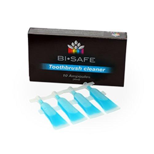 Bi Safe Probiotischer Zahnbürstenreiniger Probiotic Toothbrush Cleaner 10 Ampullen je 4ml Zahnbürsten/aufsatz, Zahnspangen, Aufbisschienen, Knirscherschienen, Zahnprothesen Reiniger 10x 4ml.