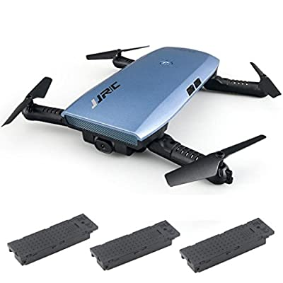 RC Helicopter,JJRC H47 Elfie Foldable Selfie Mini Drone FPV Quadcopter with Two Extra Battery