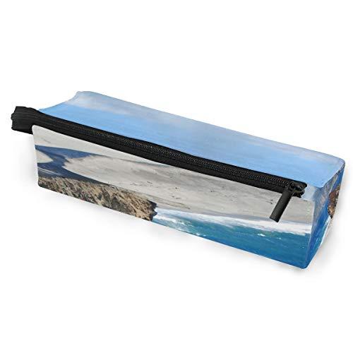 Pencil Bag Case Sonnenbrillen Coast Mountains Ocean Seascape Kosmetik Studenten Schreibwaren Beutel Reißverschluss für Mädchen Jungen