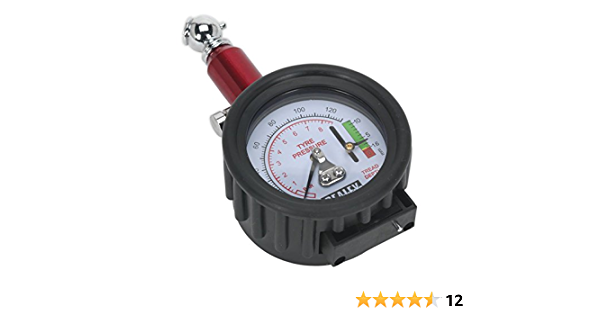 Sealey Tstpdg01 Reifendruckprüfer Mit Reifen Profiltiefenmesser Auto
