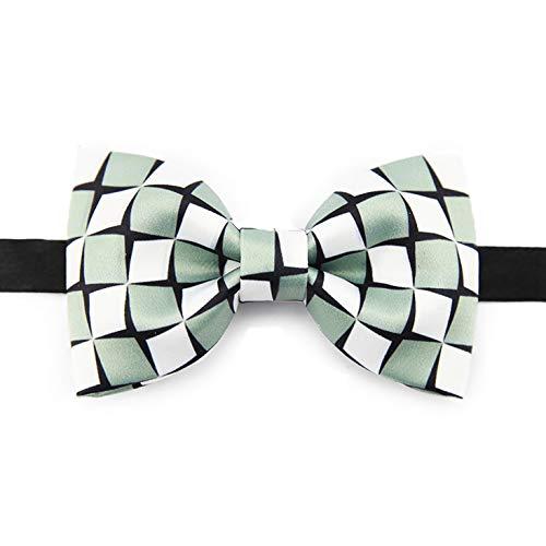 Melodycp Schleife mit Schmetterlingsschleife, quadratisch, handbedruckt, aus Seide, handbedruckt, klassisch, für ()