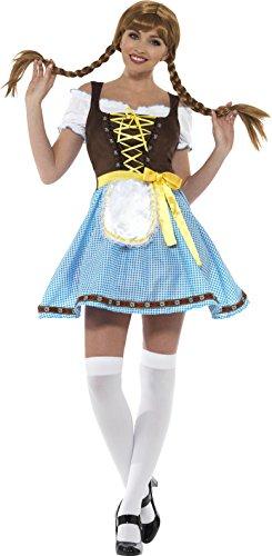 SMIFFY 'S 49659l Olga Bayerische Kostüm, blau & weiß, L–UK Größe (Lady Kostüme Bayerische)