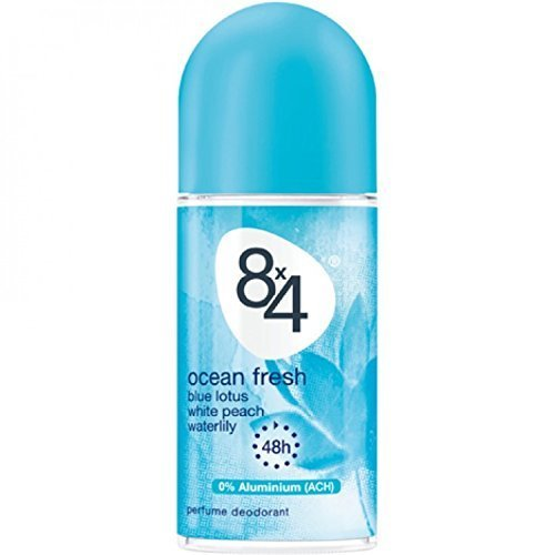 8x4 Men Ocean Fresh Deo, Roll-On, 6er Pack (6 x 50 ml)