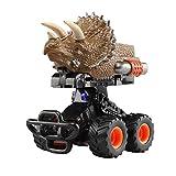 KOBWA Deformable Ziehen Dinosaurier-Autos Zurück, Fahrzeug-Auto-Spielwaren mit Starkem Griff-Reifen, Steigen und Singen Nach Zusammenstoß, Kreative Geschenke für 3-14 Jährige Jungen-Mädchen