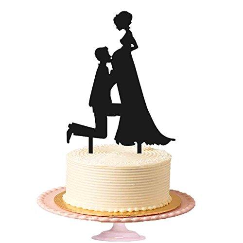 Groom Kiss Schwangere Braut Love Hochzeit Kuchen Topper Für Kuchen, Decor (Gay Cake Wedding Topper)