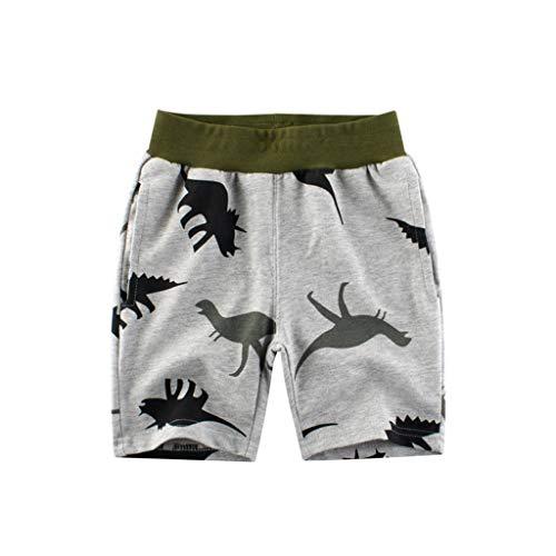 Julhold Kinder Kinder Baby Jungen Lässig Cartoon Dinosaurier Tarn Baumwolle T Shirt Oberteile Shorts Outfits Set 1-7 Jahre
