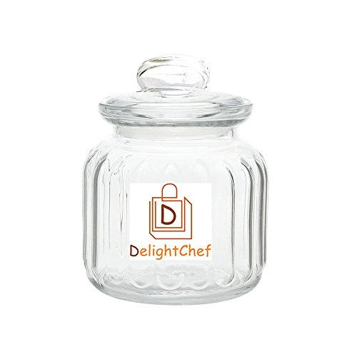 Delight Chef – A brand of Delight Retail Glass Moduler Kitchen Container, 500ml (Clear) – Pack of 1