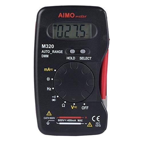 AIMOmeter M320 Tasche Messgerät Autoranging Handheld Digital Multimeter DMM Frequenz Elektrische Kapazität Messgerät