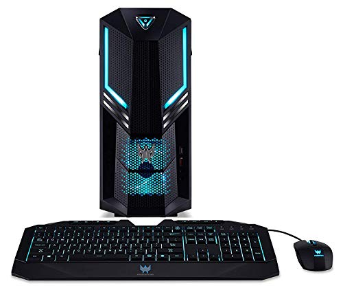 Acer Predator Orion 3000 (PO3-600) Desktop PC (Intel Core i7-8700, 16GB RAM, 2.000GB HDD, 512GB PCIe SSD, NVIDIA GeForce RTX 2070 (8GB VRAM), Win 10 Home) schwarz/blau