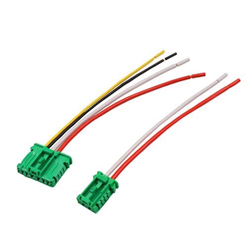 YAOPEI 2pcs Cableado Arnés Conector para Ventilador Resistencia 6441.L2