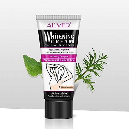 Festnight 60 ml Aligeramiento de la piel Bajo el brazo Parte privada Blanqueamiento Labio Rosado Pezón Cara Color del cuerpo Desvanecimiento Producto Intimate Bleaching Cream