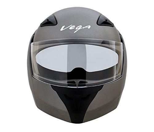 Vega Boolean Flip-up BLN-DA-M Helmet with Double Visor (Dull Antracite, M)