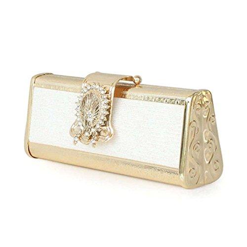 Nuove Cuoio Delle Signore Banchetti Borse Di Telefonia Sacchetto Mobile PU Gold
