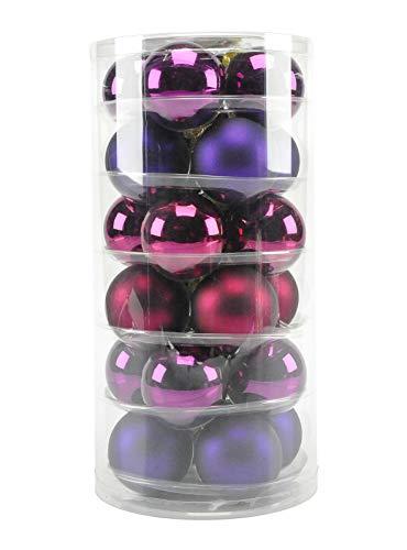 Sphères verre Ø6 Violet assorties Set pZ.24