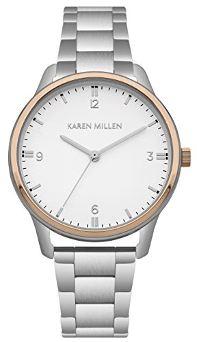 Karen Millen Womens Analogue Classic Quartz Watch with Stainless Steel Strap KM167SRGM