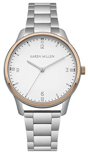 Karen Millen Womens Analogue Classic Quartz Watch with Stainless Steel Strap KM167SRGM