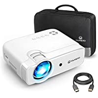 VANKYO Leisure 430 Mini Beamer, unterstützt 1080P, 4500 Lumen Heimkino Beamer mit 50000 Stunden LED und eingebauter HiFi Lautsprecher, kompatibel mit TV Stick, HDMI, SD, AV, VGA, USB, PS4, X-Box