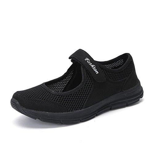Casual Zapatos,ZARLLE Verano Zapatos Zapatillas Respirable Malla Mocasines Deportes Mujer Sneaker Malla...