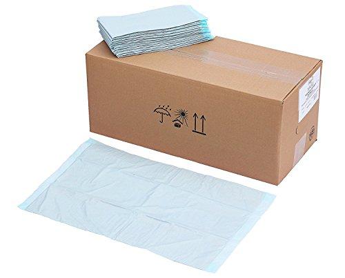 200x 6-lagige Zellstoff Krankenunterlagen Einmalunterlagen Wickelunterlagen Tierunterlagen babyunterlagen Inkontinenz blau ca. 40 x 60 cm von promanu