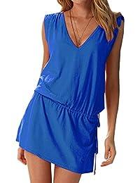 Women Ladies Beach Dress Swimwear Cover Up Beach Wear Bikini Summer Dress Kaftan One Size