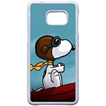 Snoopy caso B7T92M4UA funda Samsung Galaxy S6 Edge Plus funda M4G10B blanco