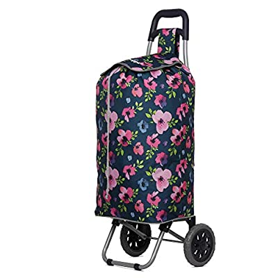 Hoppa Lightweight Shopping Trolley Folding 2 Wheel Large Capacity Shopper