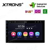 "XTRONS 7"" Android 9.0 Octa-Core Double Din Autoradio 2GB RAM 32GB ROM mit Touchscreen 2DIN Auto Multimedia Player 2.5D gebogener IPS Bildschirm unterstützt 4G Bluetooth DAB OBD2 UNIVERSAL"