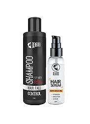 BEARDO HAIR FALL CONTROL SHAMPOO for Men (250ml) And Beardo Hair Serum Oil (50ml) Combo.