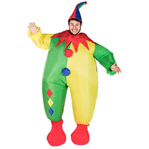 Bodysocks® Costume Gonfiabile da Clown per Adulti