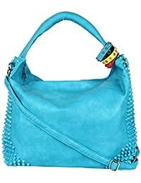 Kion Style Colour Band Women's Blue Handbag