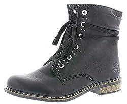 Rieker Damen Stiefeletten 71218, Frauen Schnürstiefelette, Freizeit leger Stiefel Chukka Boot halbstiefel schnür-Bootie,schwarz,41 EU / 7.5 UK