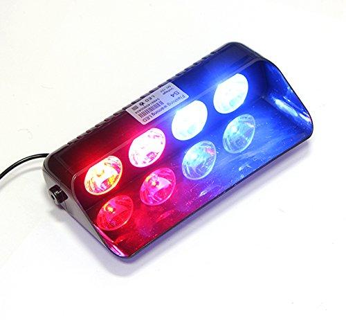 Preisvergleich Produktbild gutreise rot/blau, Auto Truck Notfall Strobe Flash Warnung Light Super Bright Spot 30Meter Windschutzscheibe Licht