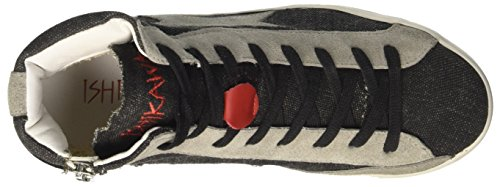 ISHIKAWA High, Baskets Hautes Mixte Adulte Nero (Jeans)