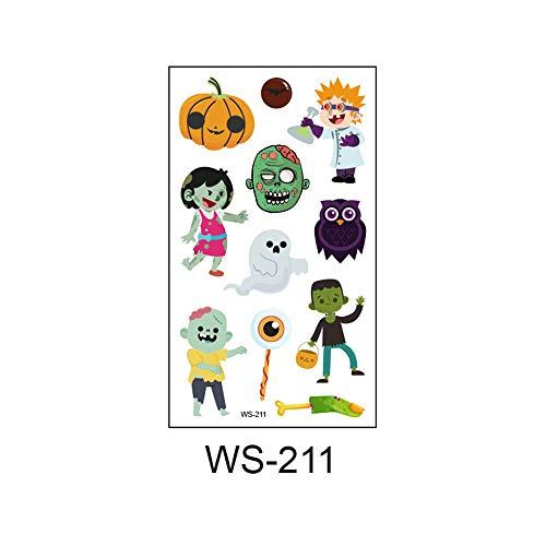 zgmtj 2019 Neue Halloween Cartoon Spaß Kinder Tattoo Aufkleber WS-211 105x60mm