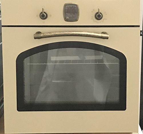 Gasline Retro Einbau Gasbackofen mit Gasgrill Autark / 65 Liter/Vollglas-Innentür (3-fach Verglasung) /Teleskopauszug/Umluft/Einbau-Backofen mit Unterhitze und Gasgrill/Gas