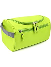 House of Quirk Hanging Fabric Travel Toiletry Bag Organizer and Dopp Kit (16 cm x 10.01 cm x 3 cm, Green)