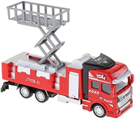 B Blesiya 1:48 Fourgon-Pompe Alliage Alliage Alliage Mini Jouet Camion Inertia Pull Back - Elévateur | Vente  1c523c