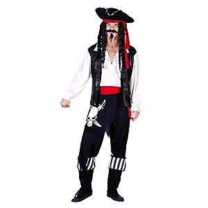 Reír Y Confeti - Ficpir026 - Para adultos traje - Traje Pirata Capitán Jefe De Luxe Muerte - Hombres - Tamaño Xl