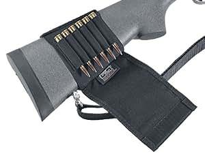 cartouchiere de crosse uncle mike's carabine p/ 6 cartouches avec rabat