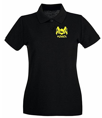 T-Shirtshock - Polo pour femme TSTEM0192 munich Noir