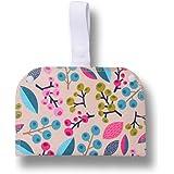 Borsetta impermeabile a doppia tasca; metti gli assorbenti asciutti da un lato, quelli usati dall'altro; perfetta per salvasl