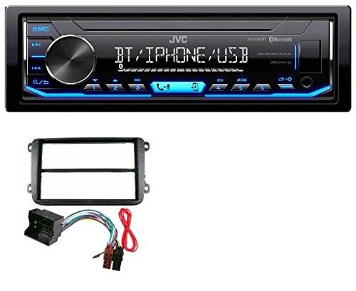 JVC KD-X351BT AUX USB Bluetooth MP3 Autoradio für VW Golf V VI Touran Passat 3C Caddy EOS Skoda Octavia (I Pod 5 Transporter)