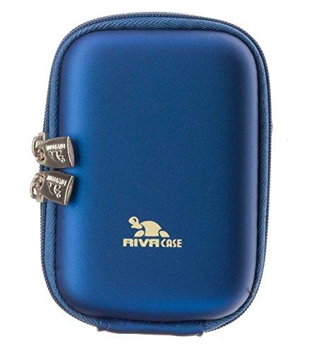 Riva Hartschalen Schutz Tasche Case Bag+Tragegurt/Gürtelschlaufe Light Blau für Casio EXILIM EX-JE10