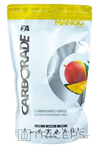 FA Nutrition Carborade 1kg - Mango - Kohlenhydratenkomplex - Maltodextrin, Dextrose, Fructose