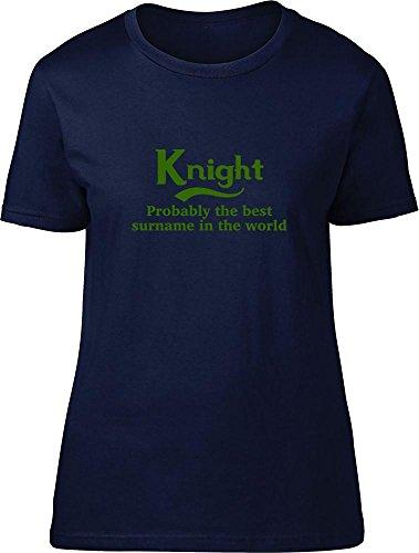 Cavaliere probabilmente il migliore cognome nel mondo Ladies T Shirt Navy